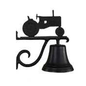 Montague Metal Cast Bell with Black Tractor Ornament
