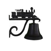 Montague Metal Cast Bell with Black Train Ornament