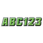 Hardline KIBLK500 5.1cm Letter and Number Kit Green / Black