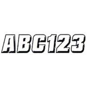 Hardline WHBLK500 5.1cm Letter and Number Kit White / Black
