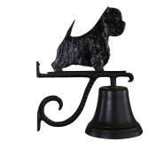 Montague Metal Cast Bell with Black West Highland White Terrier