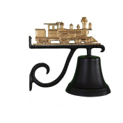 Montague Metal Cast Bell with Gold Train Ornament