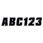 Hardline BLKSI500 5.1cm Letter and Number Kit Black / Silver
