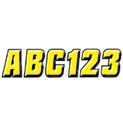 Hardline YEBLK500 5.1cm Letter and Number Kit Yellow / Black