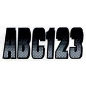 Hardline SIBKG300 7.6cm Carbon Fibre Kits / Silver Black