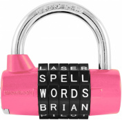 WordLock 5-Dial PadLock, Pink