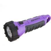 Dorcy Floating Waterproof LED Flashlight with Carabineer Clip, 32 Lumens, Purple