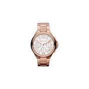 Michael Kors MK5757 Womens Camille Rose Gold Tone Stainless Steel Case and Bracelet Chronograph White and Rose Gold Tone