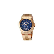 Michael Kors MK5410 Womens Rose Gold Tone Stainless Steel Quartz Chronograph Blue Dial Date Display Watch