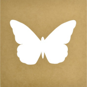 Beyond The Page MDF Large Butterfly Silhouette Wall Art Frame, 30cm x 30cm , 22cm x 15cm
