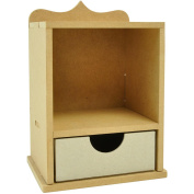 Beyond The Page MDF Single Shadow Box With Drawer, 18cm x 11cm x 11cm