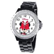 Disney Women's Minnie Mouse Enamel Sparkle Bracelet Watch