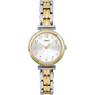 Timex Women's Elevated Classics Dress Watch, Two-Tone