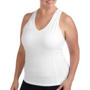 Danskin Now Women's Plus Size Dri-More Core Racerback Shelf-Bra Tank