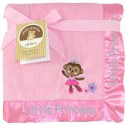 Child of Mine by Carter's Ballerina Monkey 2-Ply Ribbed Valboa Blanket