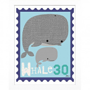 Timeless Frames Whale Animal Stamp Framed Art, 10x8