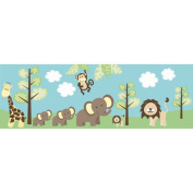 Brewster Home Fashions Jungle Friends Wallpaper Border