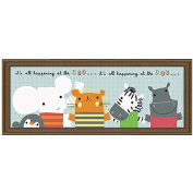 "Timeless Frames ""It's All Happening at the Zoo"" II Framed Art, 10x8"