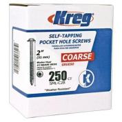 Blue-Kote SML-C2B-250 Pocket Hole Screw, NO 8, Coarse Threaded, 5.1cm L, Zinc