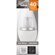 Great Value LED Deco Light Bulb, Soft White