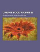 Lineage Book Volume 26