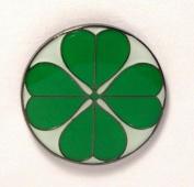 Metal Enamel Pin Badge Brooch Lucky Four Leaf Shamrock Clover