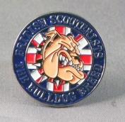 Metal Enamel Pin Badge Brooch British Bulldog Scooter Mod Vespa Lambretta Union Jack