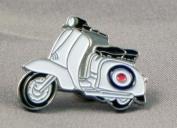 Metal Enamel Pin Badge Brooch Scooter Lambretta MOD RAF Roundel