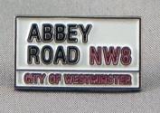 Metal Enamel Pin Badge Brooch 60's Music The Beatles Abbey Road Sign
