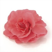 BR20375 Large Pink Flower Brooch Wedding Party Prom