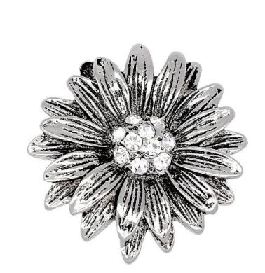 Vintage Style Elegant Diamante Daisy / Sunflower Flower Brooch / Pin