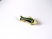 Historic Jewellery Reproduction Gold plated pewter - Romano-British Fish brooch - Unisex