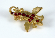 Historic Jewellery Reproduction Gold plated pewter - Girona Salamander brooch - Unisex - Length 40mm