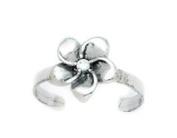 14ct White Gold Adjustable Flower Body Jewellery Toe Ring - JewelryWeb