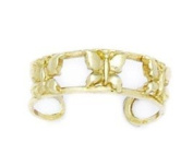 14ct Yellow Gold Adjustable Butterfly Body Jewellery Toe Ring - JewelryWeb