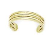 14ct Yellow Gold Adjustable Triple Row Body Jewellery Toe Ring - JewelryWeb