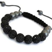 Shamballa Bracelet Full Back (No Strings) Disco Ball Friendship Bead Unisex Bracelets. Crystal Beads