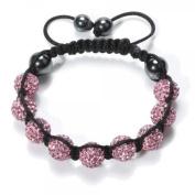 Shamballa Bracelet Pink Disco Ball Friendship Bead Unisex Bracelets. Crystal Beads