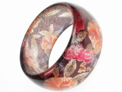 Glitz4Girlz Glitter Flower Red Bangle