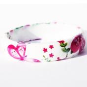 Very pretty floral bangle in a white colour theme.