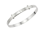 Sterling Silver Expander Bangle with Message