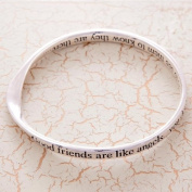 Silver Plated Bangle Good friends are like angels... you don't have to see them to know they are there...