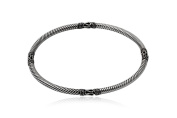 925 Silver Bangle, 6 cm diameter + Black Gift Box