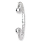 SILVER TORC CHILD BANGLE TWISTED 5.00gm