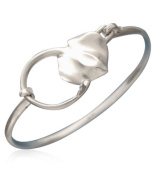 Aquamarine Jewellery Sterling Silver Sting Ray Bangle Gift Boxed