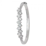 SILVER LADIES BANGLE CZ Weight