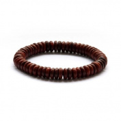 Ovalbuy 8mm Wood Beads Buddhist Prayer Wrist Mala Bracelet