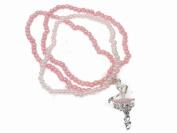 Glitz4Girlz Pink Ballerina Beaded Bracelet