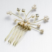 HA05375 Silver Crystal Spray Comb Hair Accessory Wedding Party