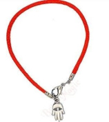 Mizze Made For Luck Jewellery Kabbalah Red String Bracelet With Hamsa Hand